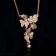 .71ct Diamond 18k Rose Gold Pendant Necklace