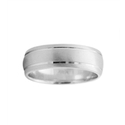 Men's 14k White Gold Comfort Fit Wedding Band Ring