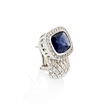 .95ct Haggai Diamond & Iolite 18k White Gold Earrings
