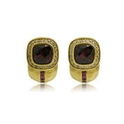 Haggai Diamond Pink Tourmaline & Rhodolite 18k Yellow Gold Earrings