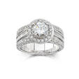 Natalie K Diamond Antique Style Diamond Platinum Halo Engagement Ring Setting