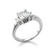 Natalie K Diamond Antique Style Diamond Platinum Engagement Ring Setting