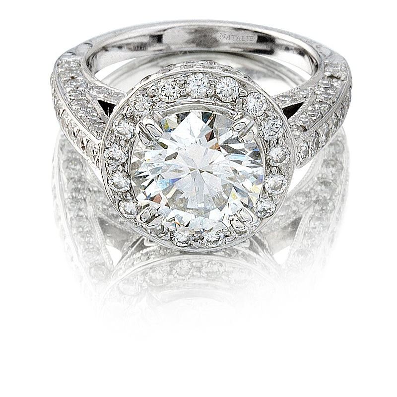 diamond claw platinum cut set product down ring wedding