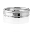 Men's Antique Style Platinum Comfort Fit Wedding Band Ring
