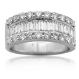 2.00ct Diamond Platinum Wedding Band Ring