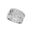 Natalie K Antique Style 18k White Gold Diamond Wedding Band Ring