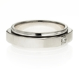 .22ct Men's Diamond 18k White Gold Wedding Band Ring