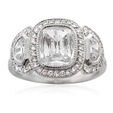 2.52ct GIA Diamond Antique Style Platinum Engagement Ring