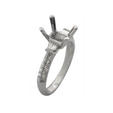 .35ct Diamond Antique Style Platinum Engagement Ring Setting