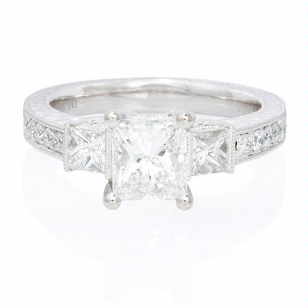 .52ct Diamond Antique Style Platinum Engagement Ring Setting