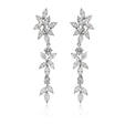 5.65ct Diamond 18k White Gold Chandelier Earrings