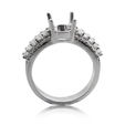 1.26ct Diamond Platinum Engagement Ring Setting