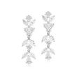6.09ct Diamond 18k White Gold Chandelier Earrings