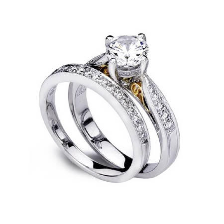 jewelry and for style accessories romantic lady fashion ring gold platinum plated popular