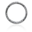 .51ct Diamond and Blue Sapphire Antique Style 18k White Gold Eternity Wedding Band Ring