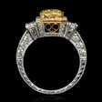 2.61ct Diamond Antique Style 18k Two Tone Gold Engagement Ring