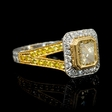 1.60ct Diamond Antique Style 18k Two Tone Gold Engagement Ring