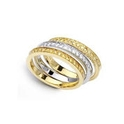 Simon G Diamond 18k Two Tone Gold Stackable Ring Set