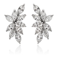 3.73ct Diamond 18k White Gold Earrings