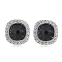 Haggai Diamond & Iolite 18k White Gold Earrings