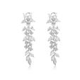11.31ct Diamond 18k White Gold Chandelier Earrings