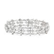 7.29ct Diamond 18k White Gold Bracelet