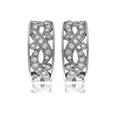 .77ct Diamond Antique Style 18k White Gold Earrings