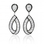 White-and-Black-Diamond-18k-White-Gold-Dangle-Earrings