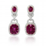 Diamond-and-Ruby-18k-White-Gold-Dangle-Earrings