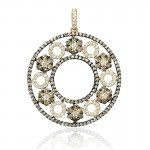 Diamond-14k-Yellow-Gold-and-Black-Rhodium-Pendant