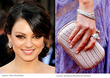 mila kunis elie saab lavender dress replica
