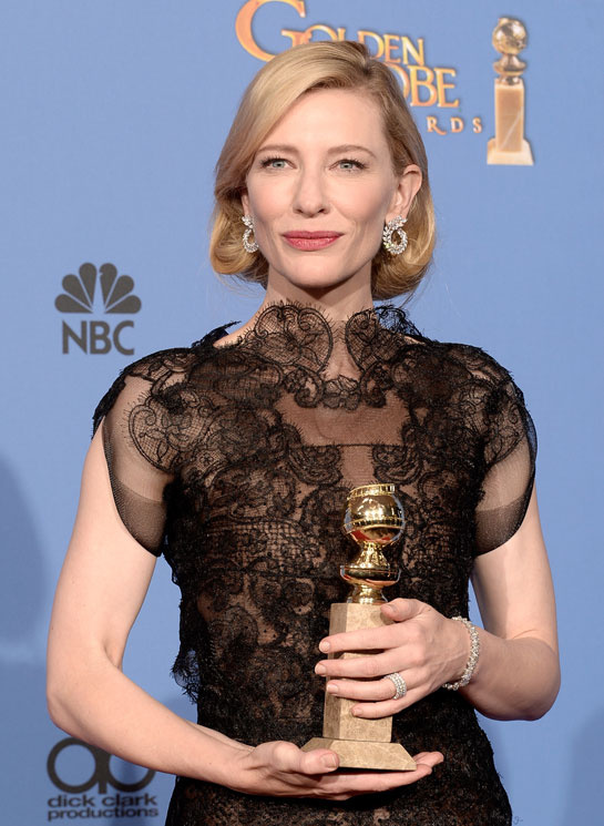 golden globes 2014 cate blanchett diamond earrings