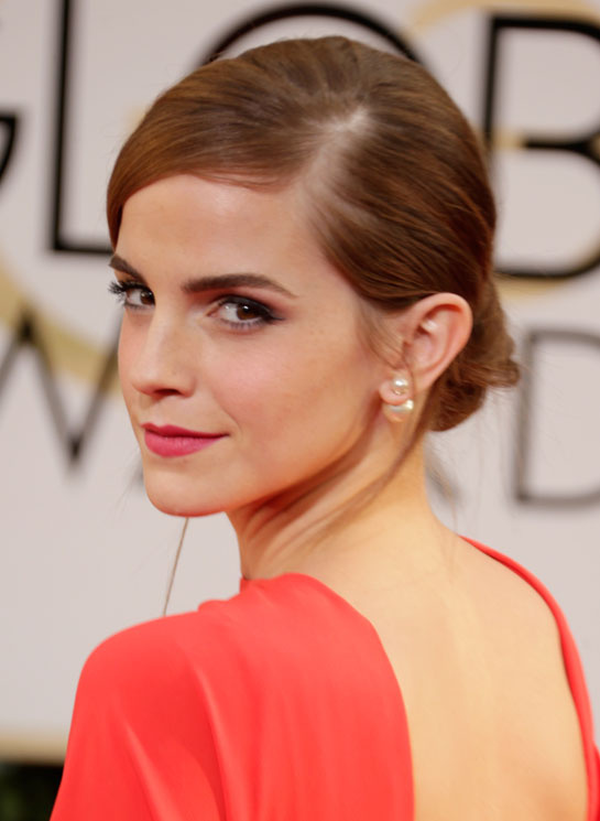 golden globes 2014 emma watson pearl earrings