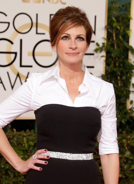 golden globes 2014 julia roberts diamond studs