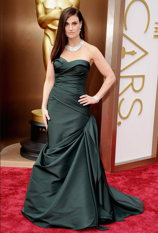 Idina Menzel diamond jewelry at Oscars 2014