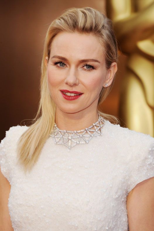 Naomi Watts diamond jewelry at Oscars 2014