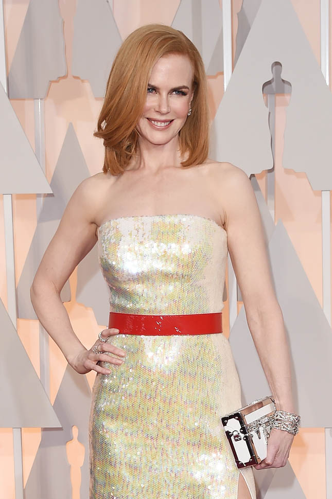 Nicole Kidman Oscars 2015 diamonds