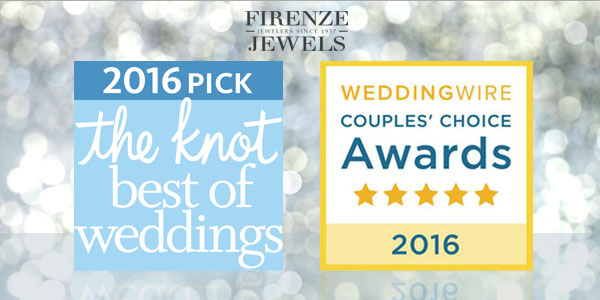 Firenze Jewels Wins TheKnot and WeddingWire 2016 Awards