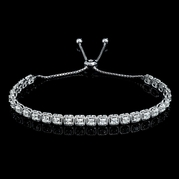 Diamond 14k White Gold Tie Bracelet
