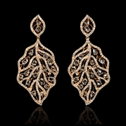 Diamond 18k Rose Gold Dangle Earrings