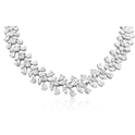 Diamond 18k White Gold Graduated Necklace
