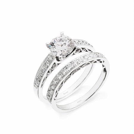 42ct Simon G Diamond Platinum Engagement Ring Setting And Wedding Band Set
