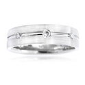 Men's Diamond 18K White Gold Wedding Band Ring