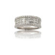 1.62ct Diamond 18k White Gold Wedding Band Ring