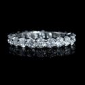 Diamond Platinum Round Brilliant Cut Eternity Wedding Band Ring