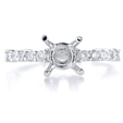 .29ct Diamond Platinum Engagement Ring Setting
