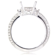 .69ct Diamond Antique Style 18k White Gold Engagement Ring Setting