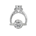 Ritani Masterwork Collection Diamond Platinum Halo Engagement Ring Setting