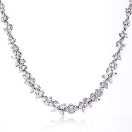 8.99ct Diamond 18k White Gold Graduated Necklace