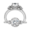 Ritani Bella Vita Collection Diamond 18k White Gold Halo Engagement Ring Setting